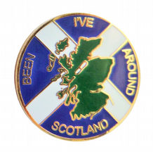 Scotland 'I've Been Around' Saltire Map Pin Badge (T1128)